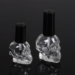 10/15ml Empty nail polish bottle clear glass with brush refi