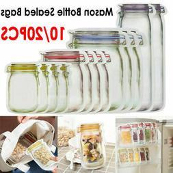 10/20 Reusable Mason Jar Bottle Bag Fresh Food Storage Bag S