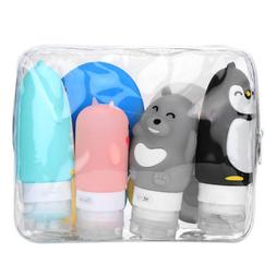 10 PC/set Silicone Travel Bottle Leakproof Containers Refill