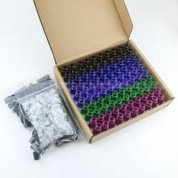 100pcs 5ml MIX Color Glass Empty Roll On Bottles Roller ball