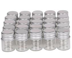 100pcs tiny vials 5ml small glass bottles