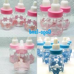 12,24,36 Fillable Bottles For Baby Shower Favors Blue Pink B