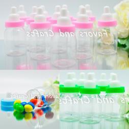 12 Baby Shower Bottles Games Fillable Favors Blue Pink Green