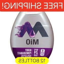 12 Bottles MIO BERRY POMEGRANATE liquid Water Enhancer. 1.62