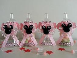 12 Minnie Mouse Pink Fillable Bottles Baby Shower Favors Pri