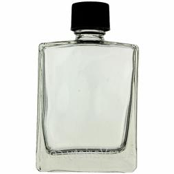 2 OZ 60 ML REFILLABLE PERFUME OIL RECTANGULAR GLASS BOTTLES