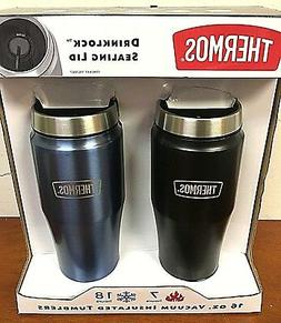 Thermos 2-Pack 16 oz Vacuum Insulated Tumblers Drinklock Lid