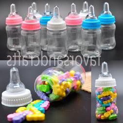 48 JUMBO Fillable Bottles for Baby Shower Favors Blue Pink P