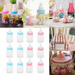 24 PACK Mini Plastic Milk Nipple Bottle Baby Shower Decor fo