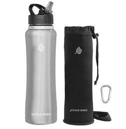 SWIG SAVVY 25oz. Stainless Steel Double Walled Water Bottle