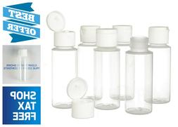 2oz Clear Plastic Empty Bottles with Flip Cap - BPA-free - S