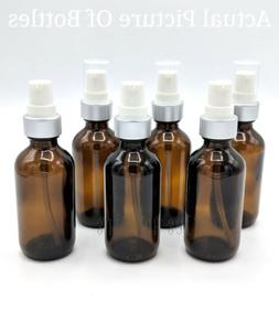 2oz Amber Glass Bottles for Essential Lotion Oils with LOTIO