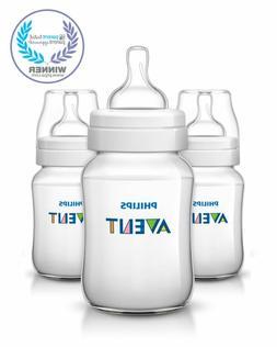 3 Avent Bottles Baby Milk Bottle Lot Feeding Set Bpa Free Un