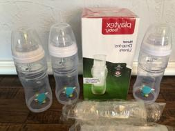 3 Playtex Nurser 8oz Bottles & Box Drop In Bottle Liners 115