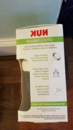 3 pack of Nuk 5 oz. Simply Natural plastic, BPA free bottles