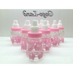 36 Fillable Bottles For Baby Shower Favors Pink Party Decora