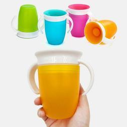 360 degrees learning drinking plastic cup leakproof