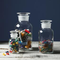3PCS Glass Decorative Reagent Vase/Bottle  Food/Candy Storag