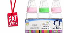 3X Baby Bottles 5 Ounce First Essentials Clear View Slow Flo