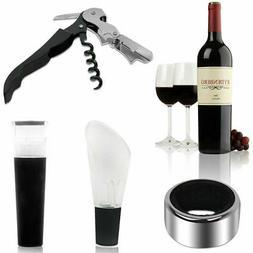 4 in 1 Wine Tool Gift Set Stainless Steel Bottle Opener Cork