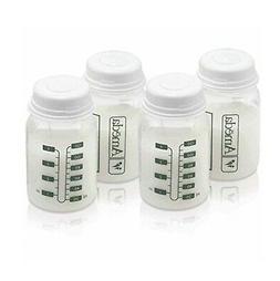 Ameda 4 Ounce, BPA Free, Polypropylene Milk Storage Bottles,