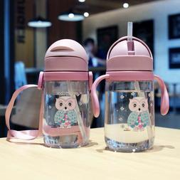 420mL <font><b>Water</b></font> Cup Cute With Straw Portable