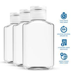 45 pack 2 oz  Empty Clear PET Plastic Bottles With Flip Top