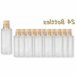 4E's Novelty Small Plastic Sand Bottles With Cork, 2 Oz, Art