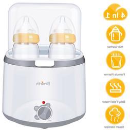 4in1 Electric Milk Food Free Warmer Baby Feeding Double Bott