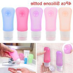 4Pcs/Set Silicone Travel Shampoo Lotion Bottles Leak Proof M