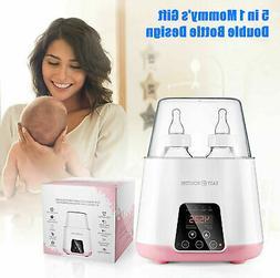 Pink 5 in 1 Steam Baby Bottle Warmer Steam Sterilizer Multip