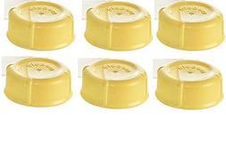Medela Solid Lids - Yellow/ solid cap/ bottle lid/ bottle s