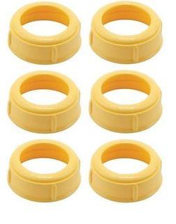 6 Collars MEDELA Bottle Nipple Collars Rings New! for slow o