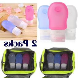 6pcs Travel Silicone Packing Bottles 60ML for Shampoo Lotion