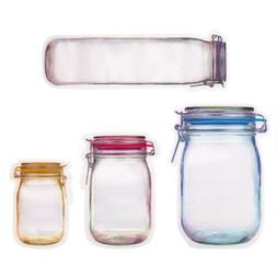 8/20 Reusable Mason Jar Bottles Bags Fresh Food Storage Bag