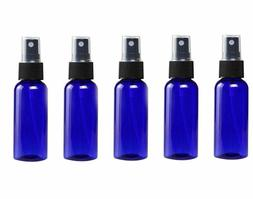 Glass Spray Bottles - 5 Piece 1oz Cobalt Blue Small Glass Bo