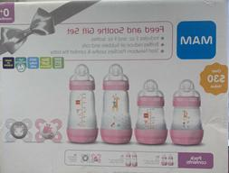 MAM Gift Set, Best Pacifiers and Baby Bottles for Newborn Br