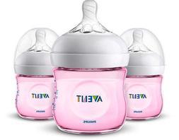 new 4oz natural baby bottles 3 pack