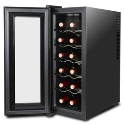 Accurate Temperature Control 12 Bottles Wine Cooler Refriger