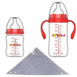 WITLIFCH Anti-Colic Baby Bottles Newborn - 6&10 OZ Baby