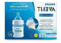 Philips Avent Anti-colic Baby Bottles Blue, 4oz, 3 Piece