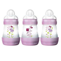 MAM Anti-Colic BPA Free 5 Ounce 3 Pack Bottle - Girl