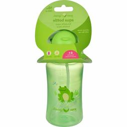 Green Sprouts Aqua Bottle 6+ Silicone Straw with Flip Cap *