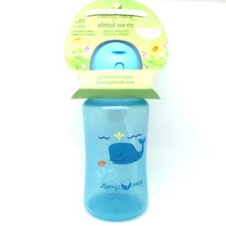 Green Sprouts Aqua Bottle 9+ Silicone Straw with Flip Cap *