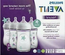 Philips Avent Natural Baby Bottle with Seahorse design, 9oz,