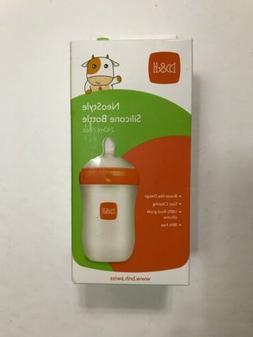 B & H NeoStyle Silicone Baby Bottle, Orange