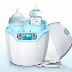 Baby Bottle Milk Warmer Steam Sterilizer with Timer Auto Shu