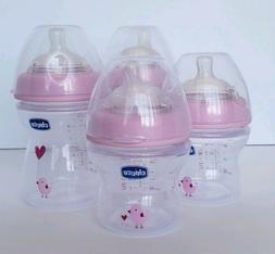 Baby bottle set, chicco, pink