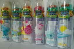 Nuby baby bottles 8oz  BPA FREE - Medium Flow - Many colors/