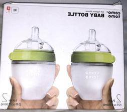 Comotomo Baby Bottles, Slow Flow, Green, 5oz 2 Pack Free Shi